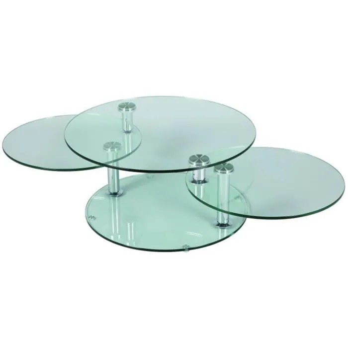 Table Basse En Verre Ronde D X H Cm
