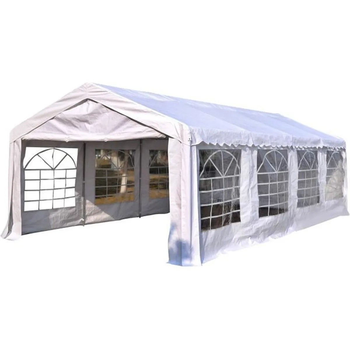 Outsunny Tente Tonnelle de Rception Jardin Chapiteau PE Impermable Tube Acier 798L x 392l x