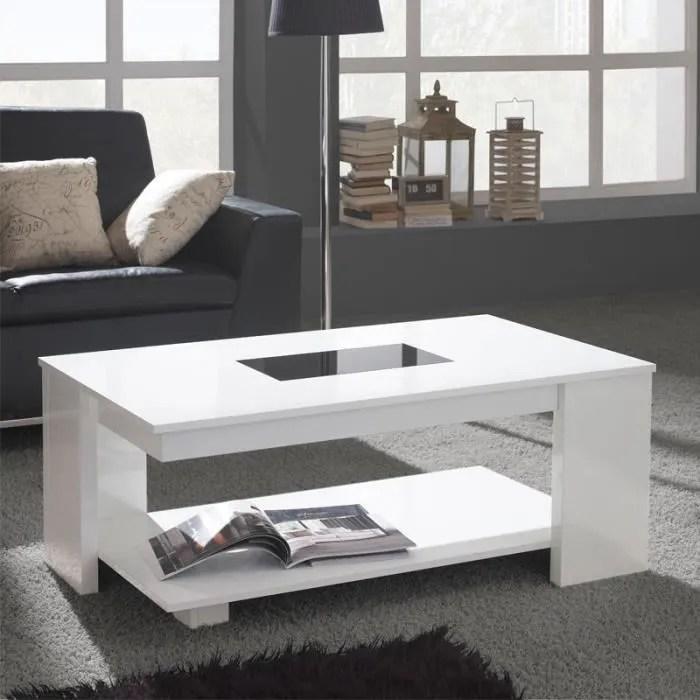 table basse relevable blanche dipa taille l 110 x l 60 x 44 59 couleur marketing blanc