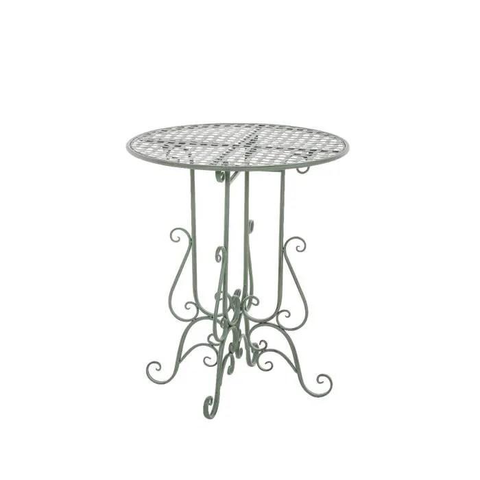 CLP Table de jardin ronde en fer forgé MATIN, faite à la