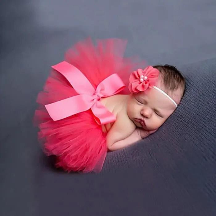 Cute Newborn Baby Girl Wallpaper Nouveau N 233 Fille Robe Princesse Avec Bandeau Cheveu Tr 232 S