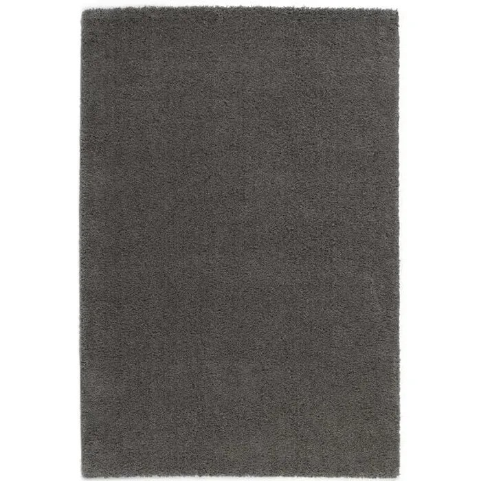 TRENDY Tapis de salon Shaggy gris fonc 120x160 cm  Achat  Vente tapis 100 polypropylne