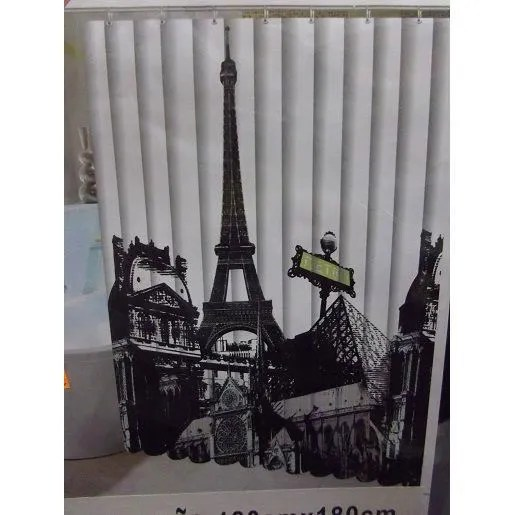 RIDEAU DE DOUCHE MOTIF PARIS Achat Vente Rideau De