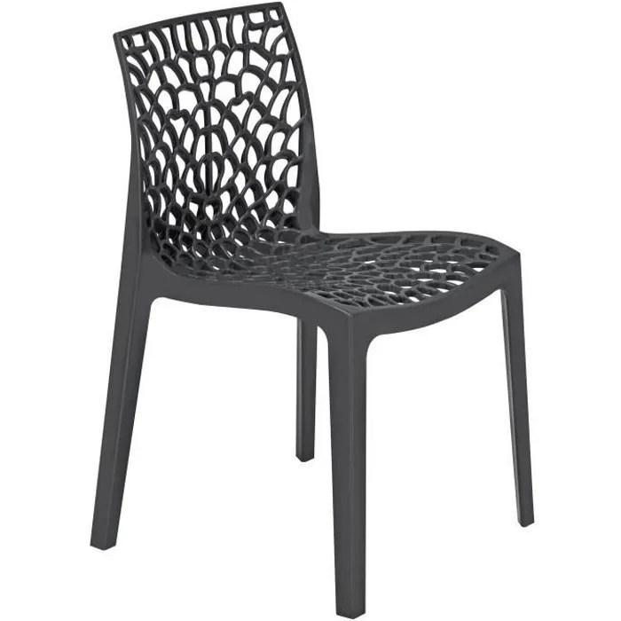 GREEN BOHEME chaise de jardin Gruvyer  En polypropylne  Gris  Achat  Vente fauteuil jardin