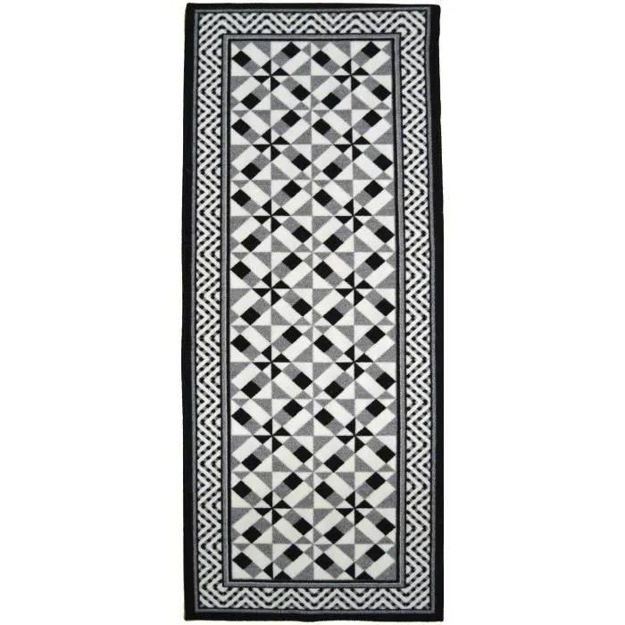 tapis de couloir utopia tapis de couloir carreaux de ciment noir