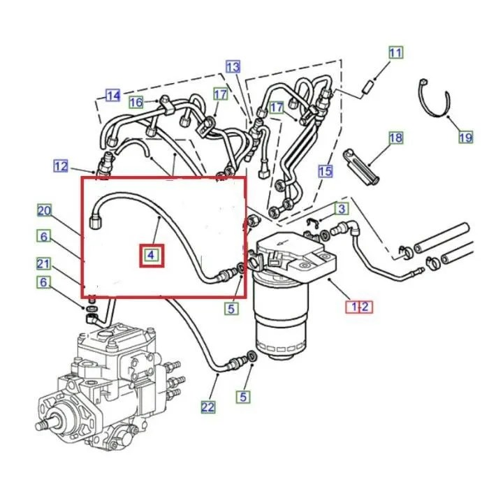 TUYAU-FILTRE CARBURANT/POMPE INJECTION CARBURANT pour LAND