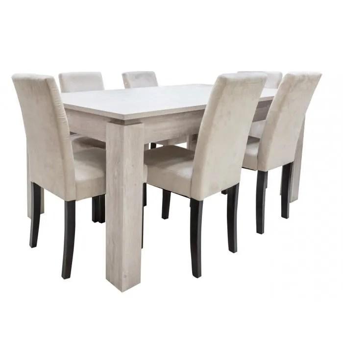 dimensions table l170 cm p90 cm h77 cm dimensions chaise l43 p56 h93 table a manger de la collection segur composee