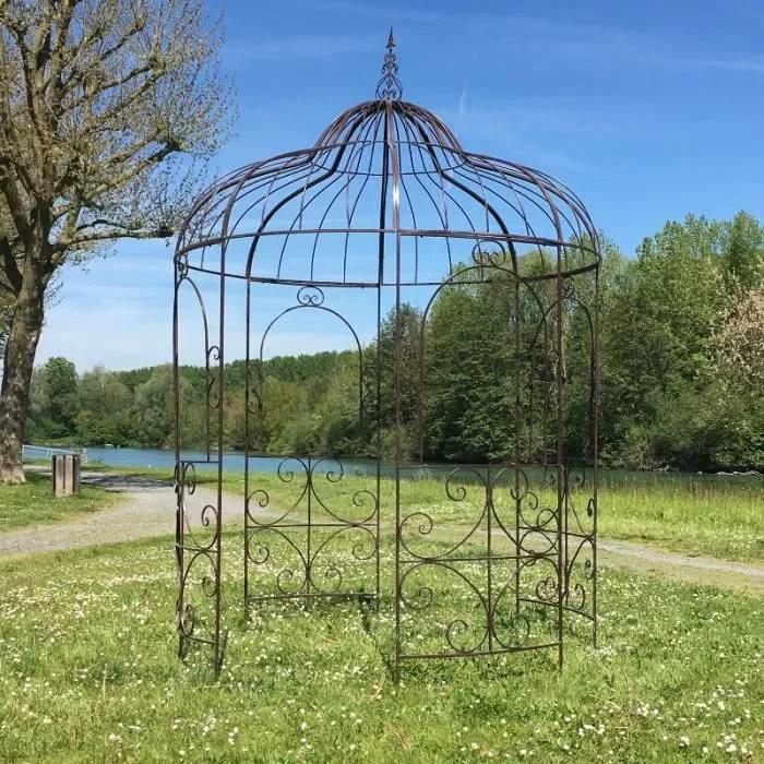 Grande Gloriette Tonnelle en Fer Pergola Kiosque de Jardin 215 cm  Achat  Vente pergola