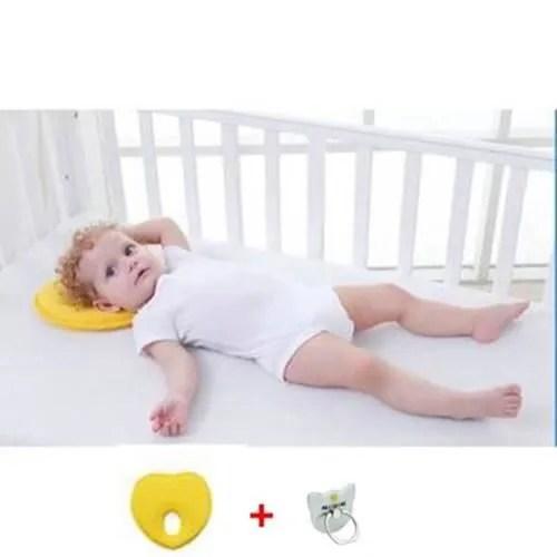 remycoo coussin de maintien anti tete plate a memoire de forme hypoallergenique bebe pour plagiocephalie oreiller memoire