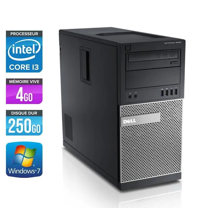 Dell Optiplex 790 Tour Core I3 2120 33GHz 4Go Prix