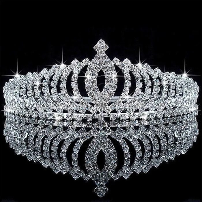 Diadme Bijoux Mariage Couronne de strass cristal Princesse Tiara Party  Achat  Vente diadme