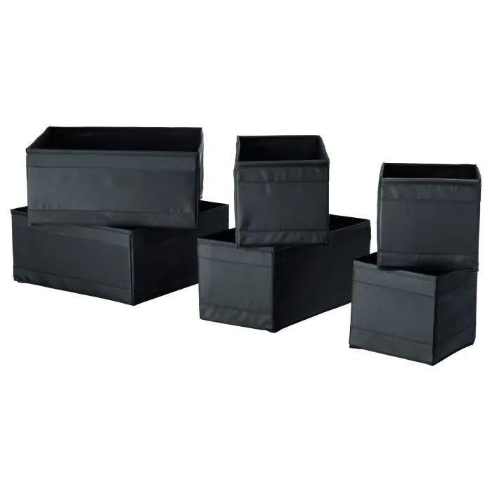 Ensemble 6 Boîtes De Rangement Organiseurs Tiroir Avec 3 Tailles Différents Skubb Ikea