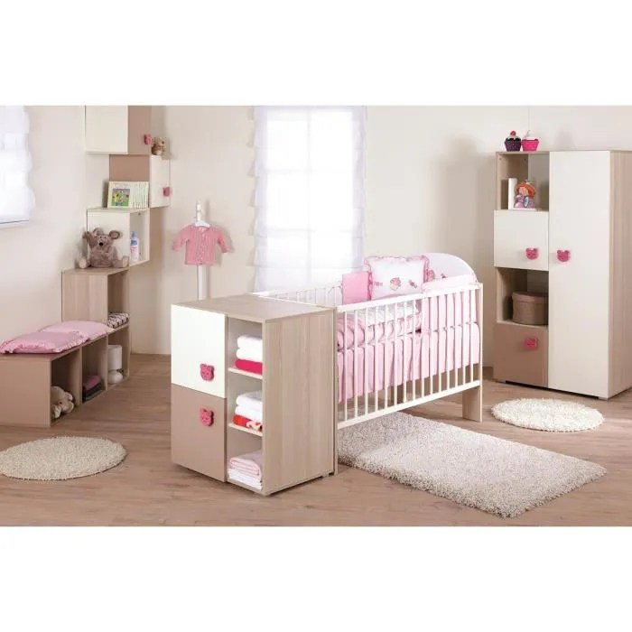 Chambre Bb Mgui complte  Couleur Marketing  Rose  Composition  Bois Rose  Achat  Vente