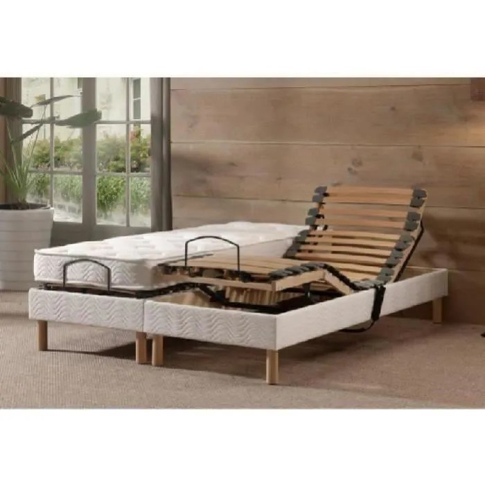 COMBILATEX Ensemble Matelas Sommiers 2x70x190 Cm Latex