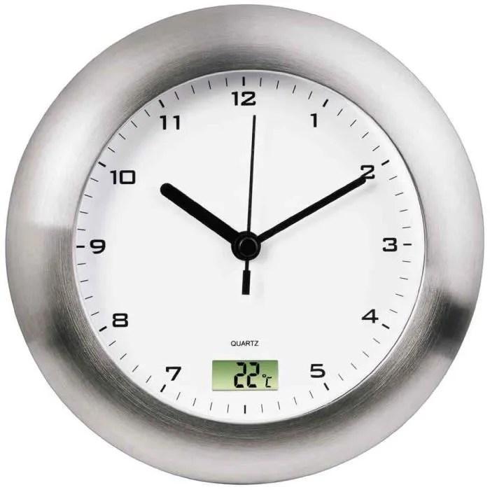Horloge murale Salle de bain horloge Quartz ar  Achat  Vente horloge  pendule Plastique