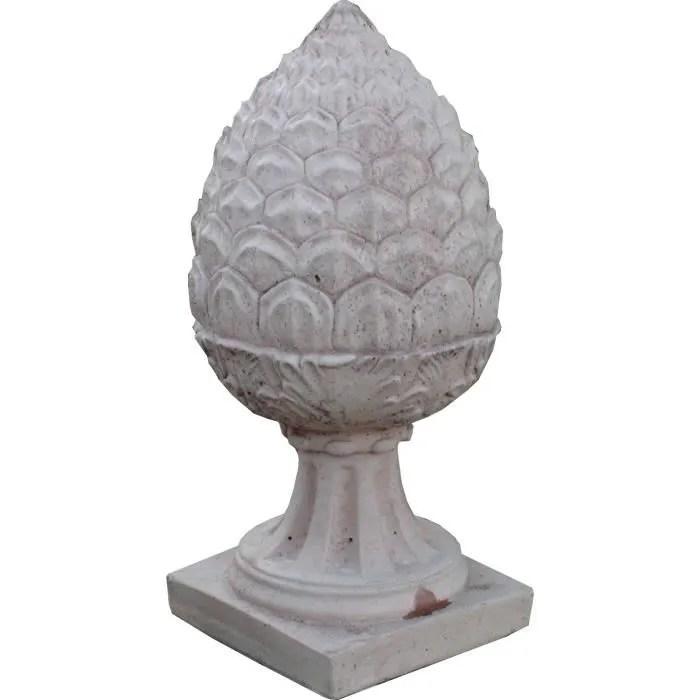statue statuette chapeau de pilier pomme de pin