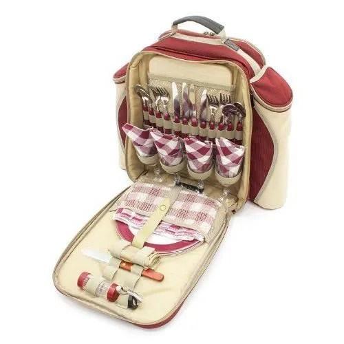 greenfield collection bpdrdh greenfield collection deluxe sac dos de pique nique pour personnes rouge mure x cm