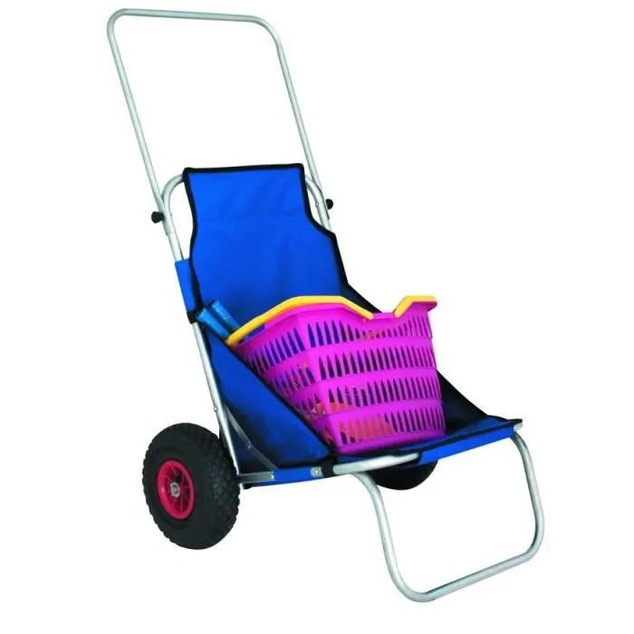 Chaise De Plage Avec Roulette Eurotrail Prix Pas Cher
