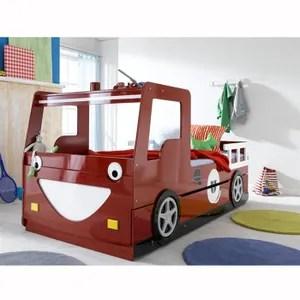 lit enfant 90x200 camion de pompier avec tiroir