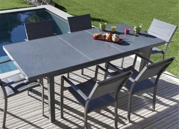 Table Jardin Extensible Alu Verre | Salon De Jardin Table Extensible ...