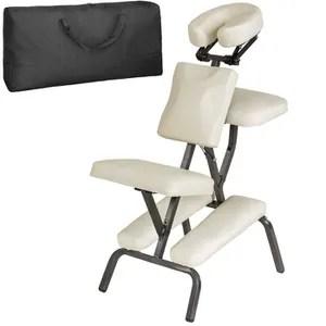 table de massage chaise de massage tectake beige sac de transport