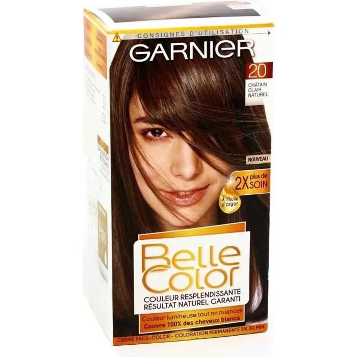 GARNIER Coloration  Chatain Clair n20  Achat  Vente coloration GARNIER Coloration 0786587