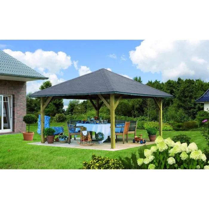 HOLM 1 pavillon de jardin en pin  431x431cm  Achat