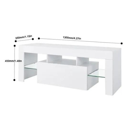 meuble tv meuble hi fi avec led table de tv table de television support de divertissement decor masion avec telecommande achat vente meuble tv meuble tv