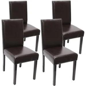 chaise lot de 4 chaises de salle a manger simili cuir mar