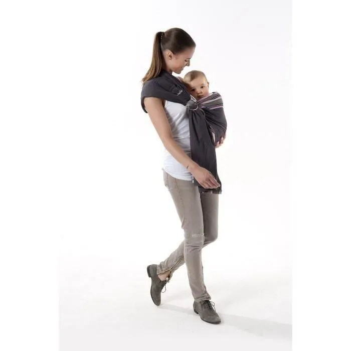 babymoov porte bebe echarpe avec anneau zinc