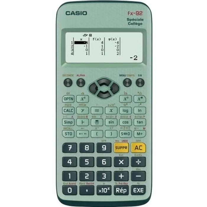 CASIO Calculatrice Fx 92 Collge Scientifique Graphique