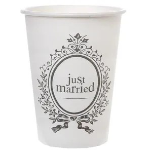 verre jetable gobelet mariage just married x10 ref 4783