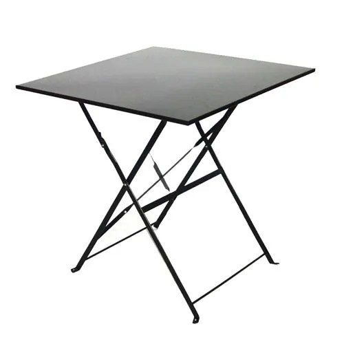 Table de jardin pliante Camarque  70x70 cm  Noir  Achat  Vente table de jardin Table de