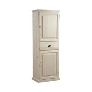 bonnetiere bonnetiere en epicea avec 2 portes et un tiroir