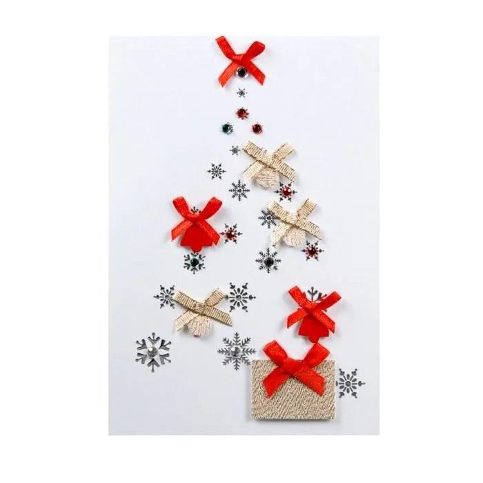 Carte De Voeux Carte Noel Nouvel An Sapin Avec N Uds