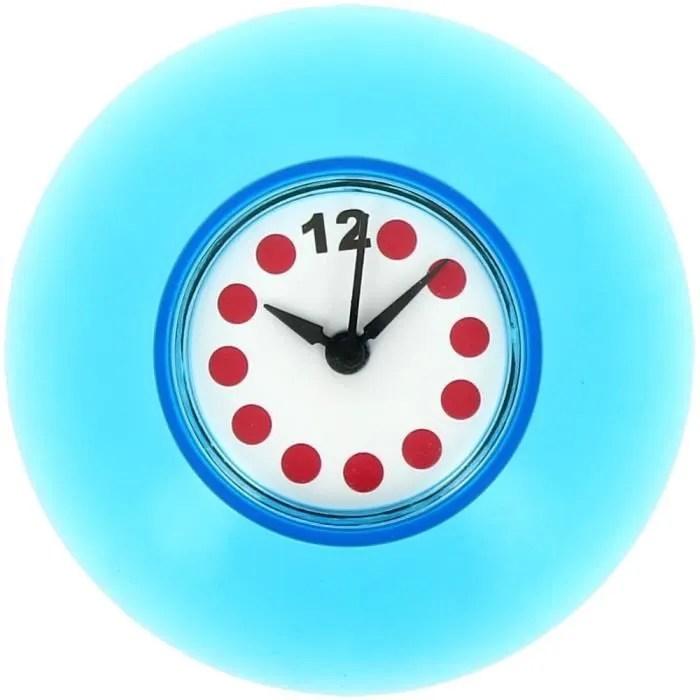 Horloge Salle de Bain Douche Fixation Ventouse   Achat  Vente horloge Plastique Plexiglas