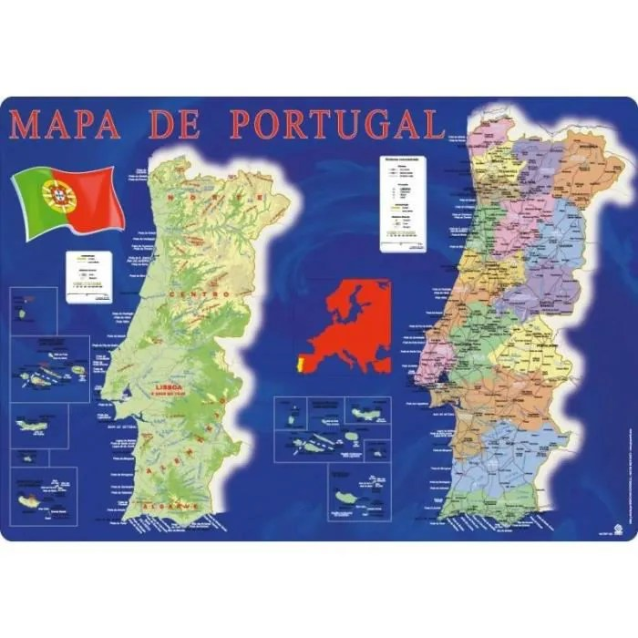 Sous Main Mapa Portugal Achat Vente Sous Main Sous