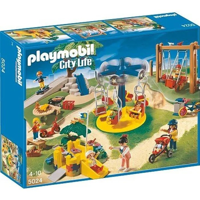 Playmobil  Grand jardin denfants 5024  Achat  Vente univers miniature  Cdiscount