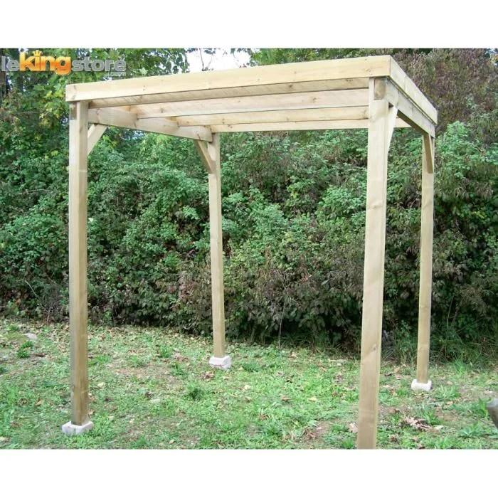 Maison jardin plein air carport bois autoclave m toit plat for Abri jardin leclerc