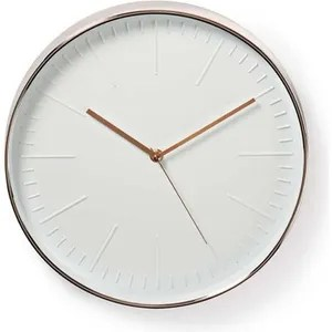 horloge pendule nedis horloge murale circulaire o 30 cm blanc