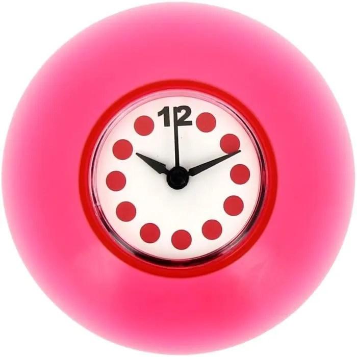 Horloge Salle de Bain Douche Fixation Ventouse   Achat  Vente horloge  Cdiscount