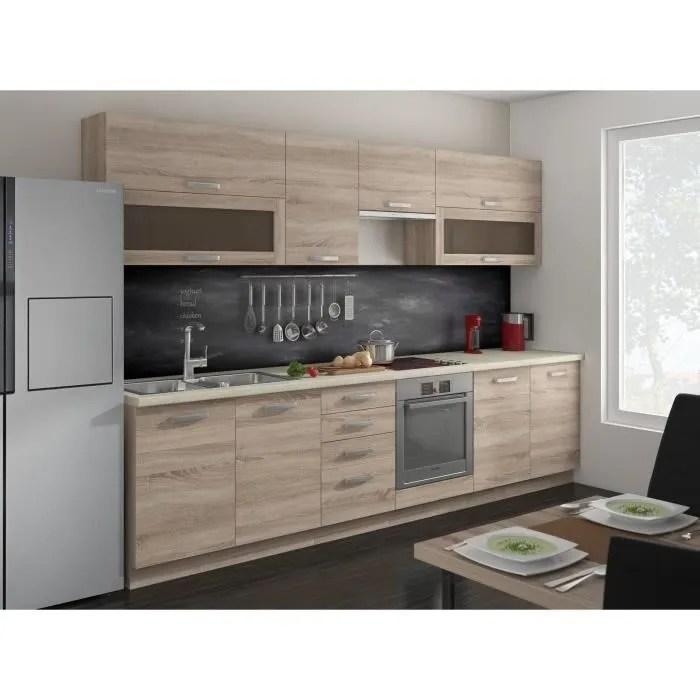 Maison Meubles Mobilier Aude Cuisine Complete Cm Finition Chene Sonoma F Aude L