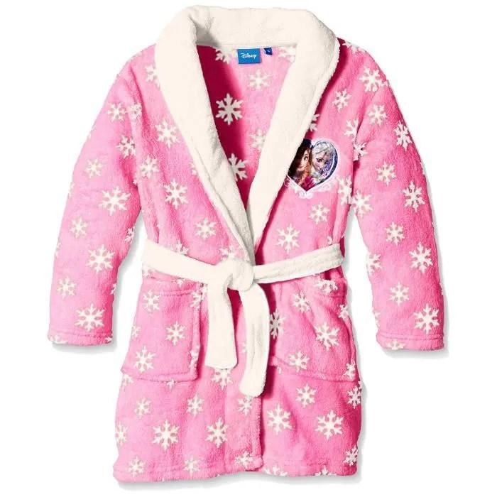 Robe de chambre La Reine des neiges Rose Rose Rose  Achat  Vente robe de chambre  Cdiscount