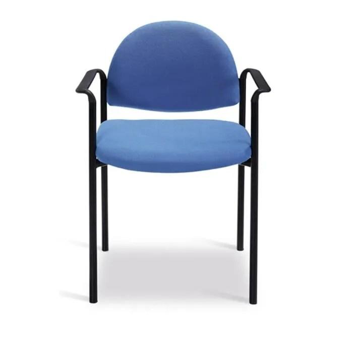 Chaise Bureau 4 Pieds En Tube Dacier Bleu Avec Achat