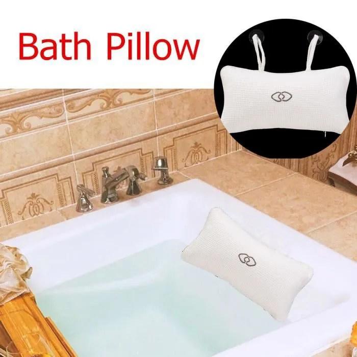 tempsa oreiller de bain coussin appuie tete baignoire cou spa spongieux ventouse