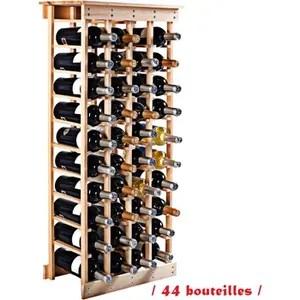 meuble range bouteille etagere a vin casier a 44 bouteilles en bois de pi