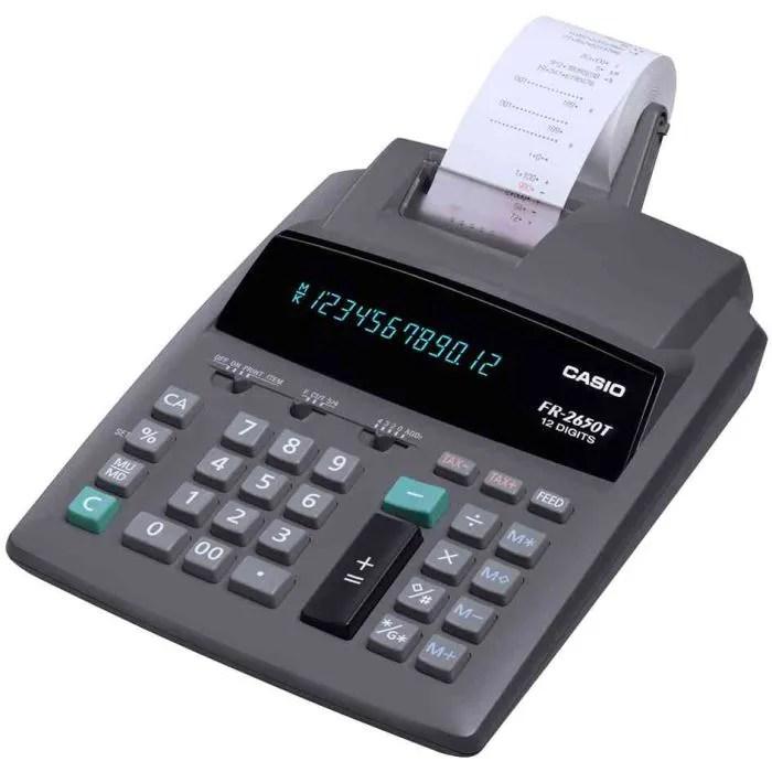 calculatrice de bureau imprimante casio fr 2650t