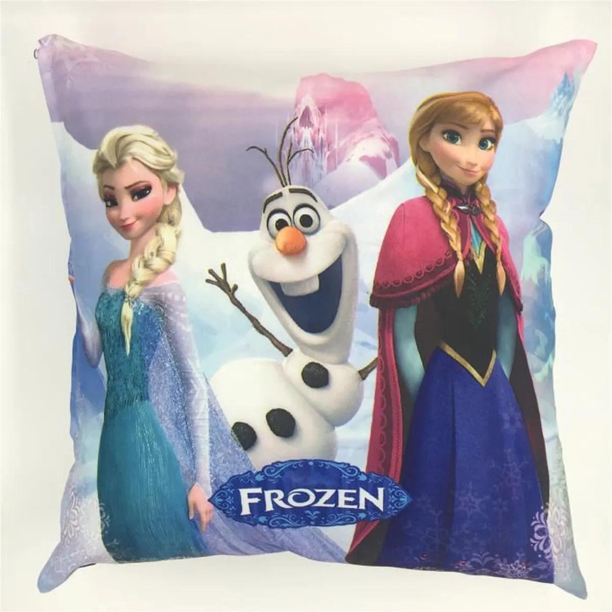 oreiller la reine des neiges frozen elsa et anna enfant des