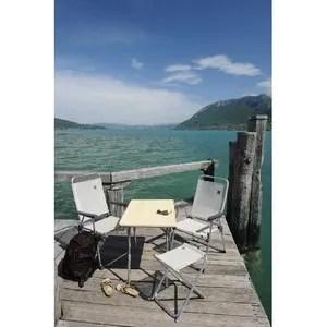 chaise de camping lafuma alu pl fauteuil bas seigle