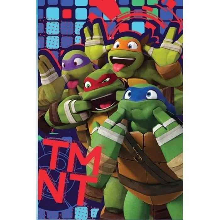 couverture plaid polaire tortues ninjas 100x150